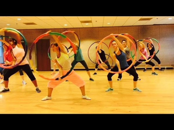 HEY MAMA David Guetta ft Nicki Minaj - Dance Fitness Workout w/ Weighted Hula Hoops Valeo Club
