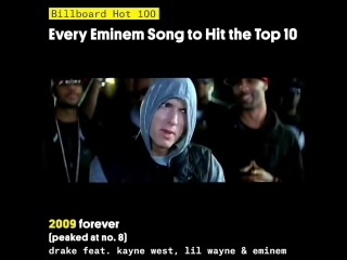 Billboard - every eminem song to hit the top 10