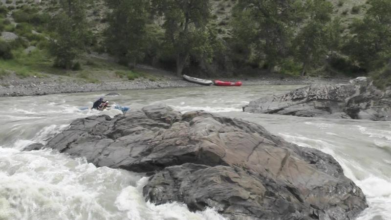 Река Чуя порог Турбиный 2015
