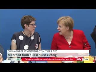 MASvid_Panik&Hysterie bei  KKK (CDU) Order: Kontaktverbot zur AfD, nicht mal ne Tasse Kaffee mit einem AfD-Mitglied erlaubt