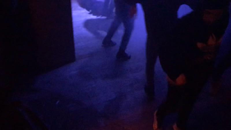 Shuffle dance in rave club Ufa