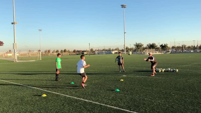 U13 boys_ First Touch and Agility Exercise