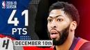 Anthony Davis Full Highlights Pelicans vs Celtics 2018 12 10 41 Pts 2 Ast 7 Rebounds