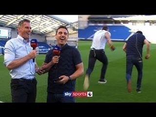 Carragher and Neville have a sprinting race and answer fan questions! | Instagram Q&A