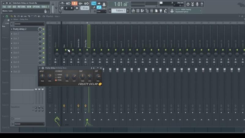 FL Studio Tutorial - Sidechain Delay on Vocals (buses Sends)
