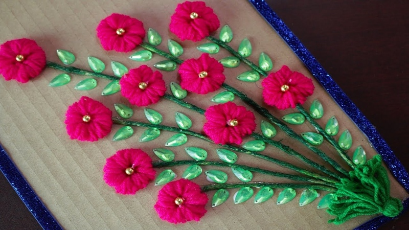 Amazing Woolen Craft Ideas    How to Make a Woolen Showpiece For Home Decor - DIY arts and crafts
