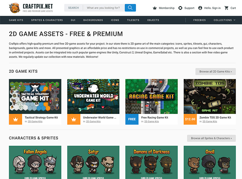 Top 10 Free 2D Game Asset Sites | Tim Mars | Resources