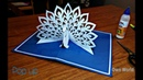 DIY How To Make Peacock Pop up Card Paper Crafts Handmade Craft Mother's Day card