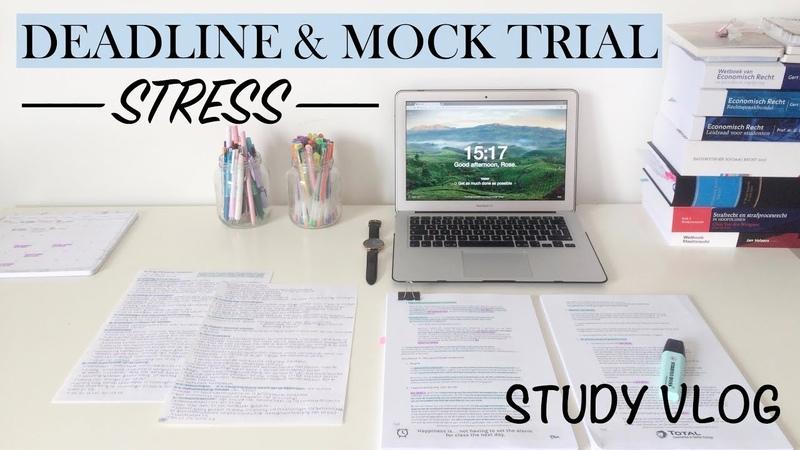 DEADLINE MOCK TRIAL STRESS - Study Vlog 13