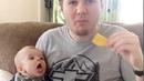 شاهد ردة. فعل الاطفال عندما يأكلون الاباء طعامهم /مضحك جدا