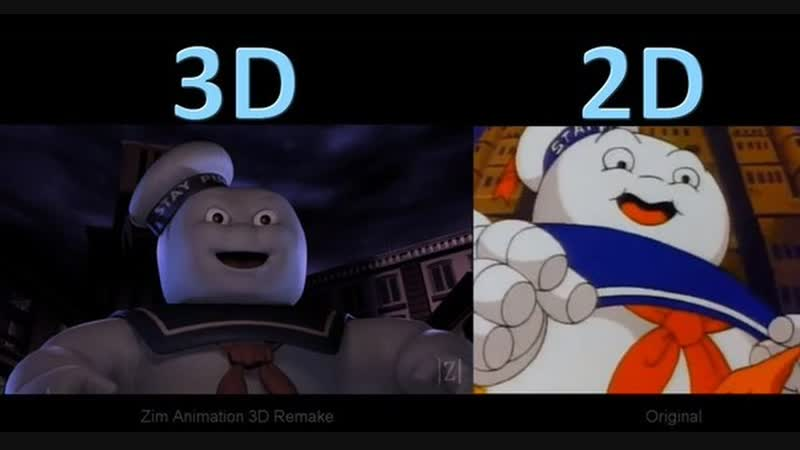 The Real Ghostbusters Intro - 3D Remake vs Original - (aneka.scriptscraft.com) 720p