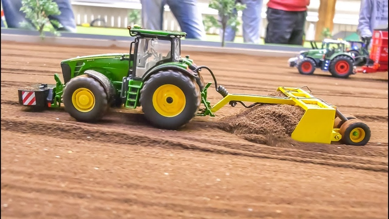 Awesome modified RC Tractors and farming Equipment in 132 scale!