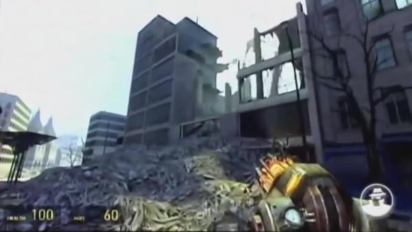 24 минут ранней беты и технического демо Half Life 2