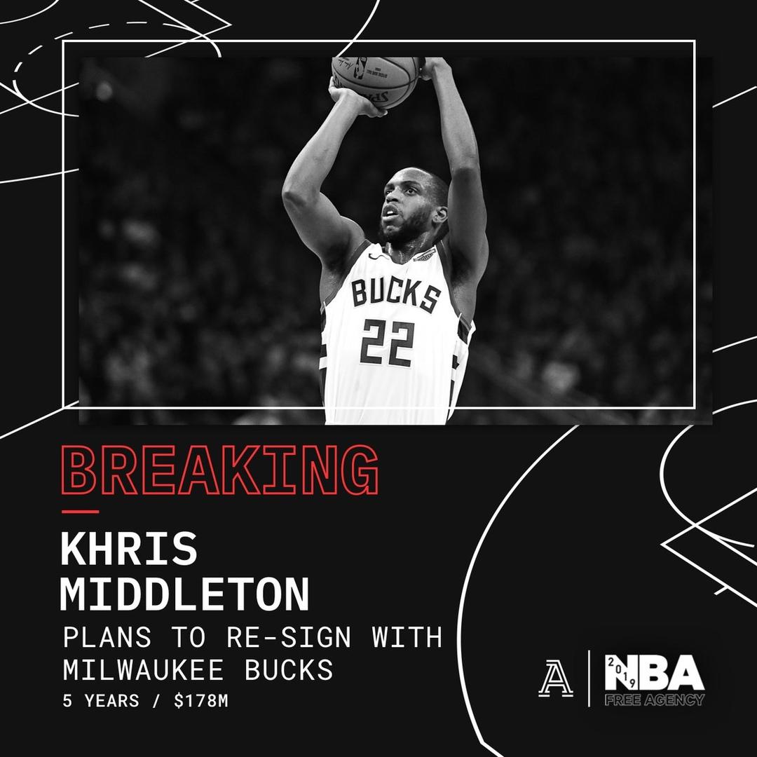 Крис Миддлтон останется в «Милуоки»