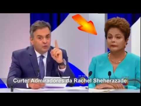 Candidato Aécio Neves Faz Dilma passar mal em debate no SBT (1610)