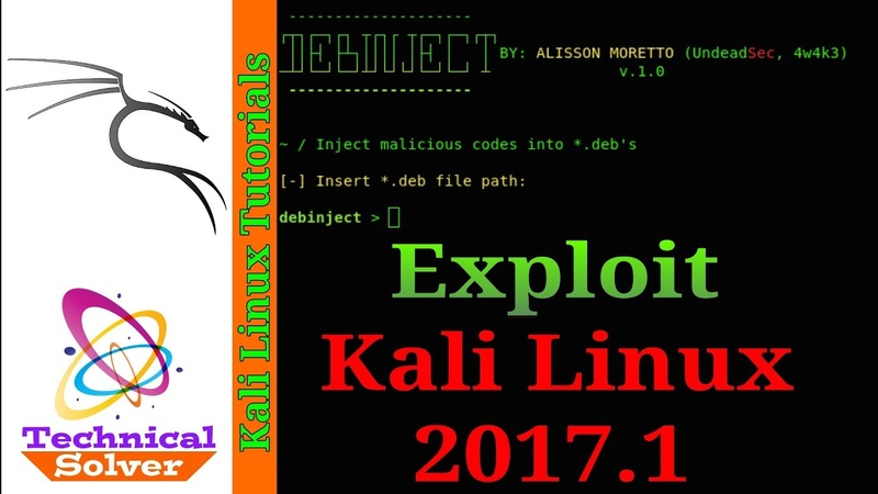 Debinject Inject backdoor in deb file to Exploit Kali Linux 2017 1