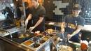 Asian Street Food Stir Fried Veggie Dish with Whole Grain Rice at Wok to Walk Baker Street London