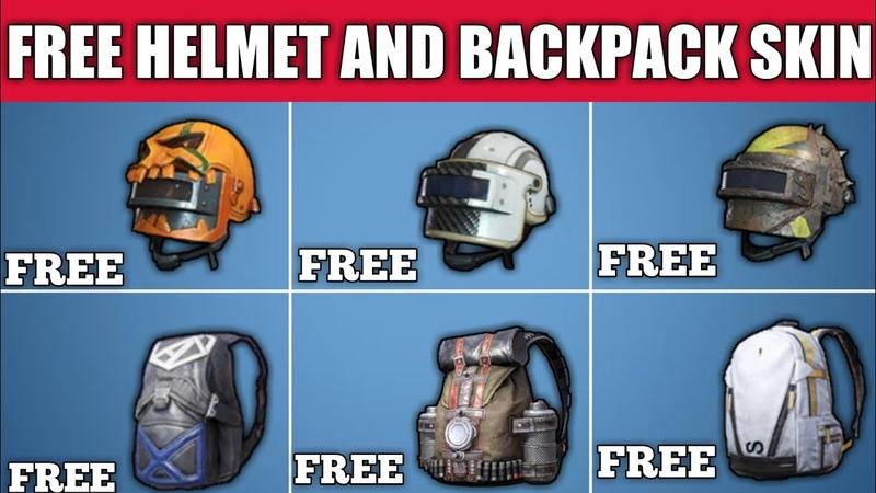 How To Get Free Helmet And Backpack Skin In Pubg Mobile ! Free Helmet Skin Pubg