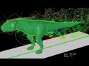 обтекание динозавра воздухом