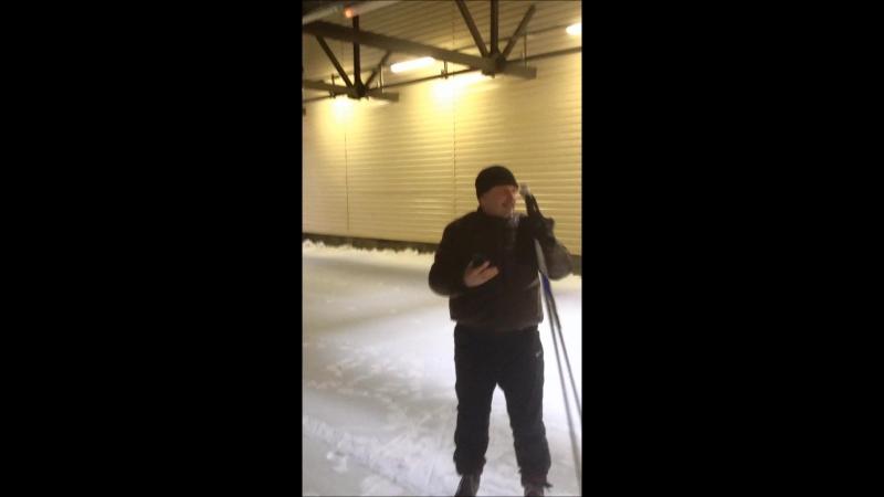 Первый лыжник в тоннеле Токсово