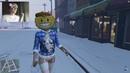 Встречаем Новый год в GTA ONLINE (Киря в шапке Деда Мороза)