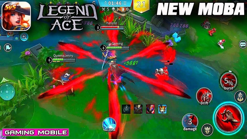 Legend of Ace - New MOBA English Version (AndroidIOS Gameplay)