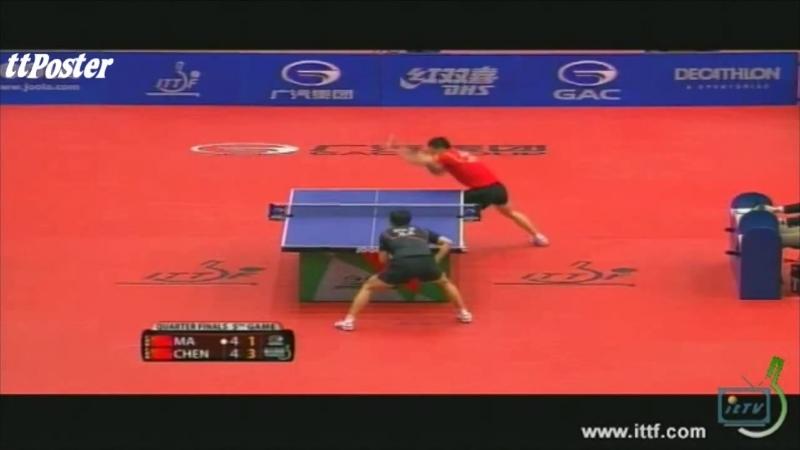 Hungarian Open 2012_ Ma Long-Chen Qi