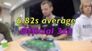 Offical 3x3 average: 6.82s @ Zonhoven Autumn open - Mats Valk