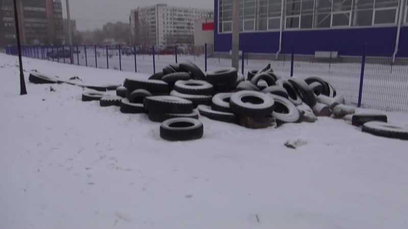 Отходы 4 класса опасности в парке Новый город г. Волжский