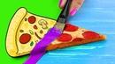 Обычная еда против мультяшной Челлендж 8 идей