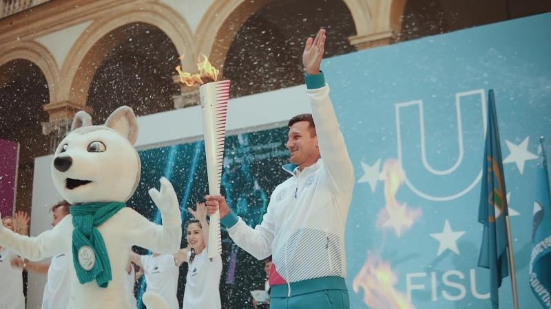 Церемония зажжения огня Зимней универсиады-2019