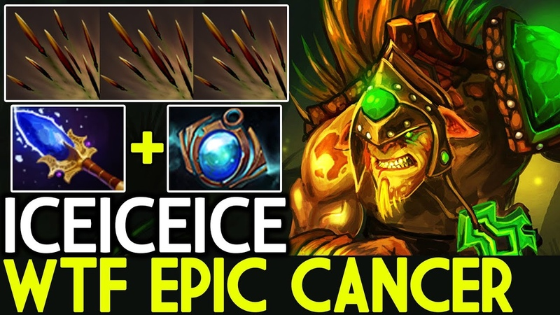 Iceiceice [Bristleback] WTF Epic Cancer Build Crazy Game 7.19 Dota 2