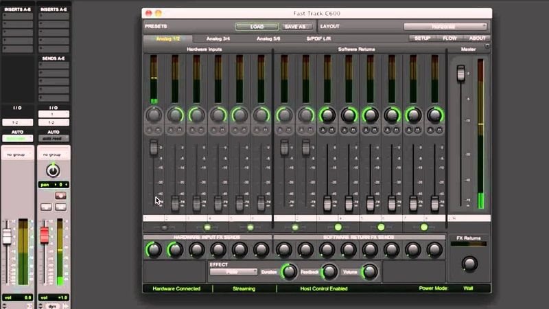 M-Audio® Fast Track® C-series: Built-in Effects and Monitor Mixes