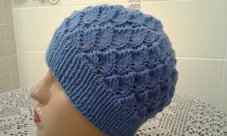Ажурная шапочка спицами. Часть 1. Women's hats knitting How to knit a hat