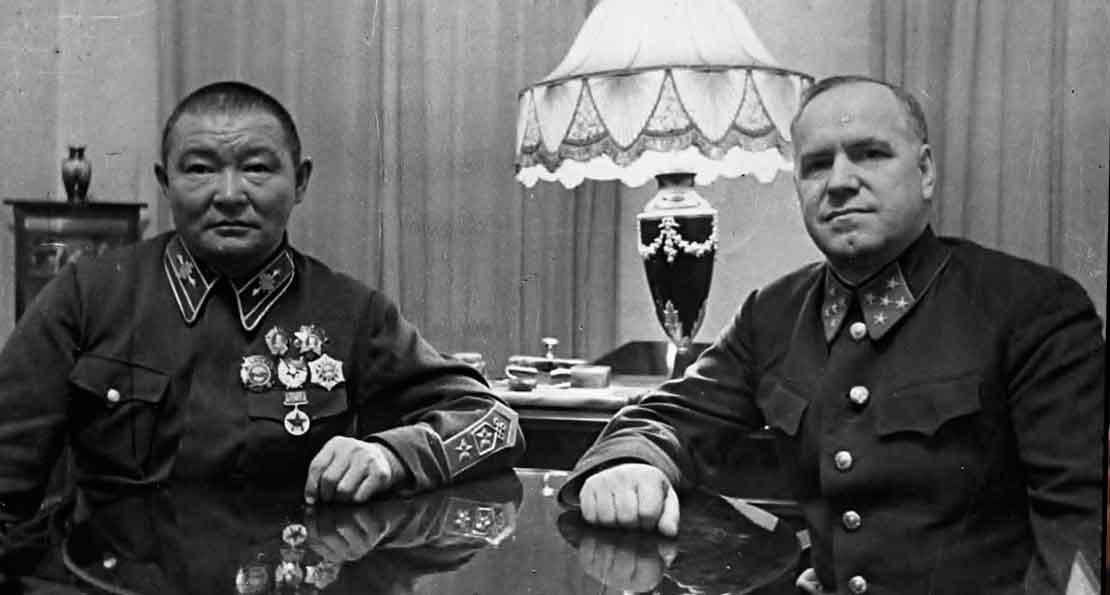 Чойбалсан и Жуков