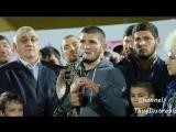 Интервью и встреча Хабиба Нурмагомедова в Дагестане на Анжи Арене после боя с Конором Макгрегором [MDK DAGESTAN]