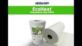 Теплоизоляция и звукоизоляция стен с EcoHeat (ЭкоХит) подложка под обои из Изолон (Isolon)