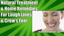 NATURAL TREATMENT HOME REMEDIES FOR FACE WRINKLES CROW'S FEET SMILES LINES ANTI AGING SERUM