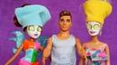 Видео для девочек с игрушками - Кукла Барби в Салоне Красоты! - Смешные игры с Мимом.