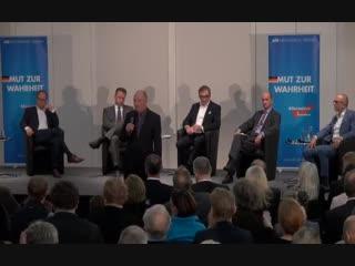 AfD Veranstaltung - 25.10.2018 - Medien & Meinung mit Michael Klonovsky , Nicolaus Fest (AfD), Kai Gniffke, Peter Frey