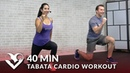 40 Min Tabata Cardio Workout without Equipment Abs - Full Body HIIT No Equipment Cardio at Home