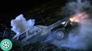 Громадный червь засасывает машину под землю. Дрожь земли (1989) год.