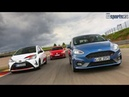 TRACK BATTLE 2018 Ford Fiesta ST vs Polo GTI vs Yaris GRMN AUTO BILD SPORTSCARS