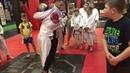 Обучение передней подножке в младшей группе GLADIATOR MMA ACADEMY Kovrov