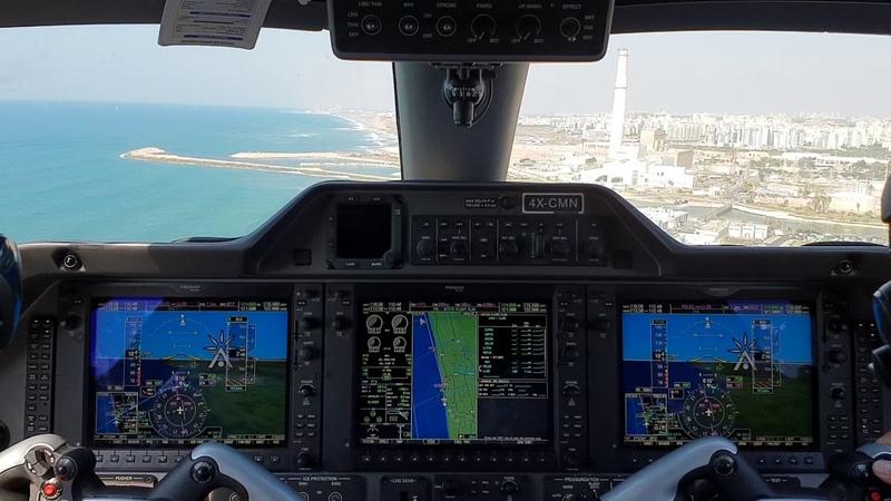 What a beautiful landing in SDE DOV TEL AVIV