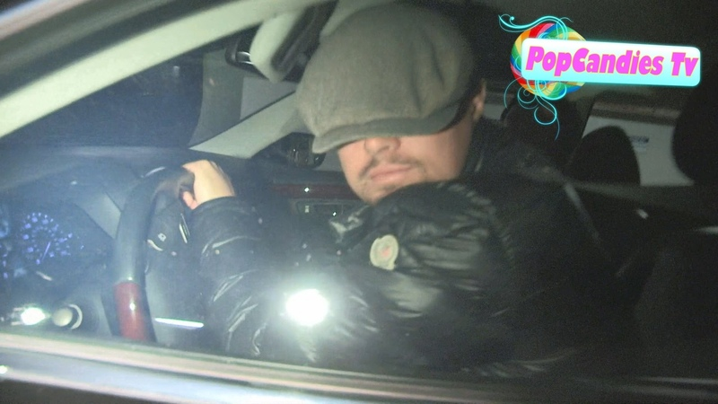Leonardo DiCaprio is Shy From Paparazzi after dinner with Martin Scorsese at Madeo in WeHo