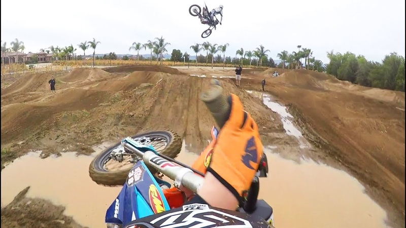12 Year Old Rides Supercross With Pros?! Gopro Raw