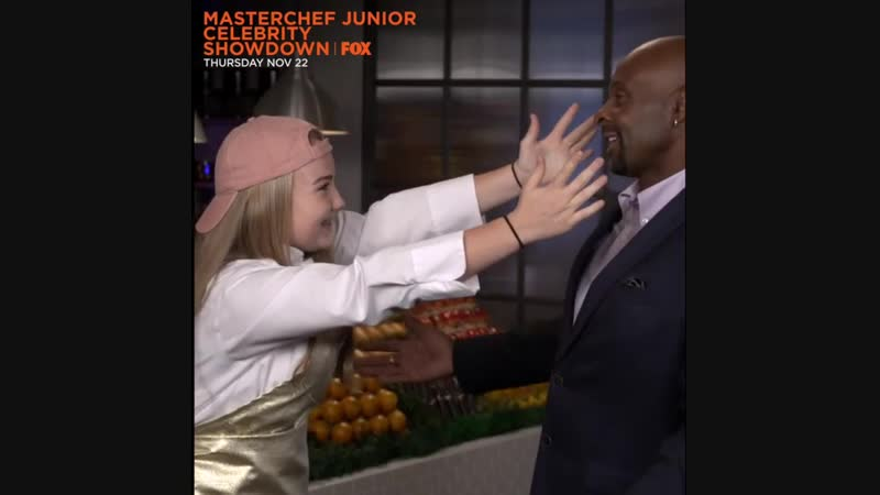@juniorchefshayne is that the best you can do ?!? We're having lots of fun in the MasterChefJunior Kitchen