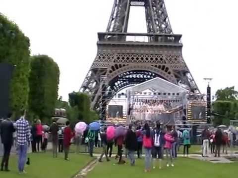 Париж, Марсово поле, 14 июля 2014 концерт