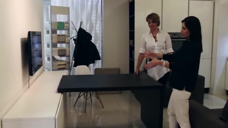 Как ВСЕ разместить в мини пространстве или в однокомнатной квартире Мебель трансформер